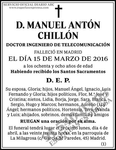 Manuel Antón Chillón